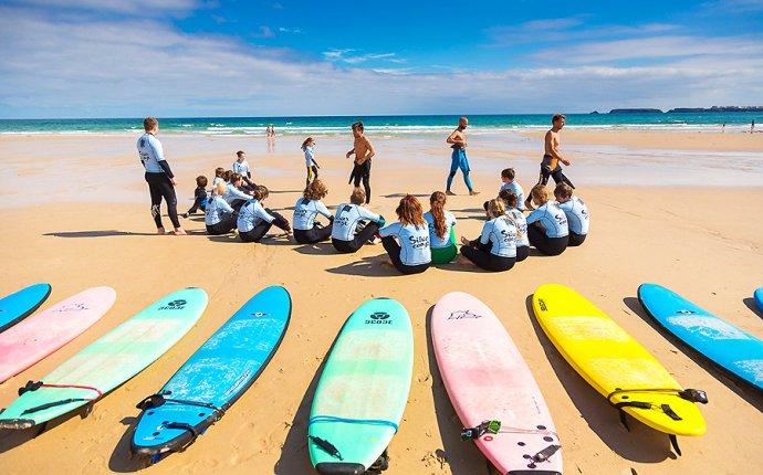Серфинг в Португалии. Школа серфинга. Обучение серфингу. Серф школа